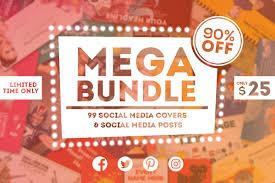 Social Media Design Templates 90 Off 99 Social Media Design Templates Mega Bundle For Only 25