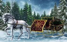 Wallpaper winter, horse, graphics, new ...