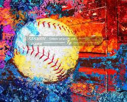 sports canvas art print large baseball