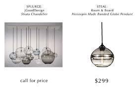 hand blown glass pendant lighting. splurgesteal_glasspendant hand blown glass pendant lighting d