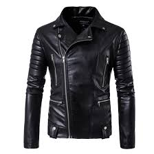 hd dst 2017 men s locomotive leather jacket hot fashion casual multi zipper design leather jacket