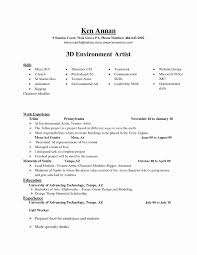 Artist Resume Sample Artist Resume Sample Inspirational Cover Letter Of Animator 30