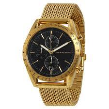 michael kors accelerator chronograph black dial gold tone men s michael kors accelerator chronograph black dial gold tone men s watch mk8388