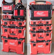 Milwaukee Hole Saw Size Chart Milwaukee Packout Tool Storage Stack Examples In 2019 New