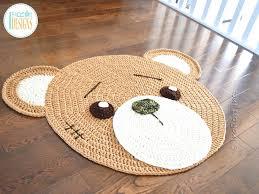 nursery bear rug classic bear rug crochet pattern for nursery or play room by nursery faux nursery bear rug