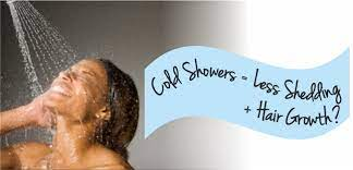 a cold shower can help to reduce hair