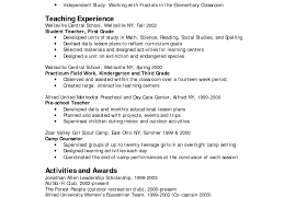 Sample Teacher Resume Pre K Commercetoolsus Engineering For Fresher