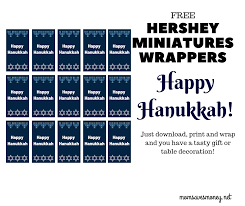 Grab the free printable teacher candy bar wrappers! Add A Fun And Festive Touch To Your Holiday With These Free Happy Hanukkah Hershey Miniatures Wrappers Mom Saves Money