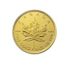 1 2 Oz Canadian Gold Maple Leaf Coin