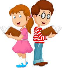 cartoon kids reading book stock vector ilration of reading 50763271