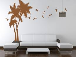 Paint Design For Wall And This Palm Tree Wall Painting