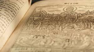 old book paterik of kiev pecherska lavra old slavic style of writing engravings pictures
