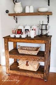 Learn how to build an easy DIY Entertaining Bar Cart from Everyday  Enchanting for Remodelaholic!