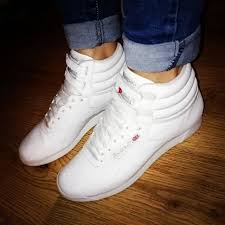 reebok high tops. #reebok #reebokclassics #reebokclassic #hightops #trainers #footwear #lovethese #favourites reebok high tops r