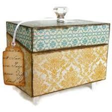 Decorative Recipe Box Recipe Box Red Vintage and Cream Decorative Box by BlissfulBoxes 12