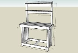 Free Potting Bench Plans  Free Garden Plans  How To Build Garden Plans For A Potting Bench