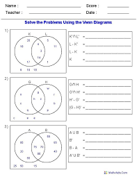 Venn Diagram Practice Sheets 12 Venn Diagram Math Problems Worksheet Venn Diagram Math