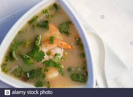 Sweet and sour seafood soup Stock Photo ...