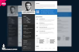 Awesome Collection Of Clean Resume Template Free Psd Cute Best