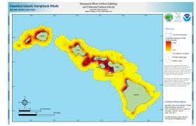 Hawaii Fishing Seasons Chart Hawaiian Islands Humpback Whale Library Maps Charts And