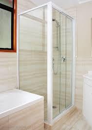 bathroom sliding glass shower doors. Framed Glass Sliding Shower Door - 3 Panel Corner Square Bathroom Doors T