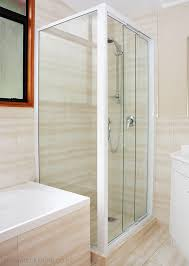 framed glass sliding shower door 3 panel sliding corner square shower