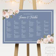 Vintage Blossoms Wedding Seating Chart
