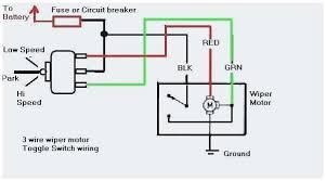 motor schematic wiper circuit diagram windshield wiper motor