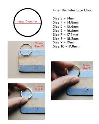 Ring Size Guide Gold Filled Jewelry Priscilla Ma