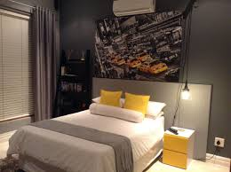 New York Bedroom Design Boys Room Industrial New York Theme Bed Peg Board Headboard