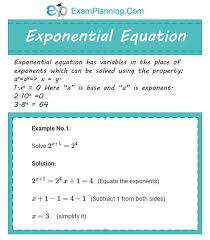exponential functions math prep