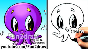 Small Picture How to Draw Cartoon Characters How to Draw an Octopus Easy