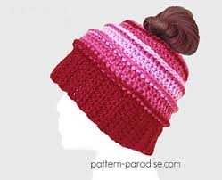 Bun Hat Pattern Adorable 48 Free Crochet Patterns For Messy Bun Hat To Make Your Winter Colourful