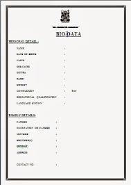 Job Biodata Unique Image Result For Simple Biodata Format For Job