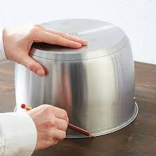 recycle old pot into countertop waste bin
