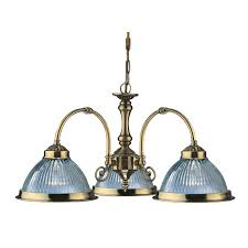 searchlight american diner 3 light dual mount chandelier antique
