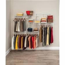 closetmaid shelftrack 5 ft to 8 ft white wire closet organizer kit within nice home depot