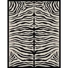 zebra print rug inside terra woven area black and beige walmart com idea 5 zebra print rug d55 zebra