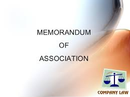 Sample Company Memorandum Form And Contents Of An Memorandum Of Association Moa