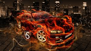 nissan gtr r34 fire city car