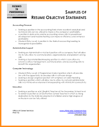 8 Sample Objective Statement Resume Dtn Info