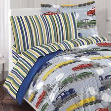 33 smart inspiration train bedding twin size com dream factory trains ultra soft microfiber boys comforter set blue home kitchen thomas