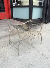 metal vanity stool. Delighful Metal Support Me  Perforated Metal Vanity Stool U2014 Casa Victoria Vintage  Furniture Los Angeles And P