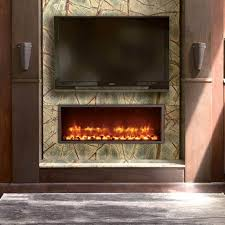 the 44 inch fireplace can be directly hardwired to a standard 120 volt connection with no need for special venting this low profile design is also