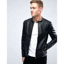 mens faux leather jackets jack originals faux leather biker jacket a liked on featuring calvin klein mens faux leather jackets