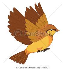 flying sparrow clipart. Modren Flying And Flying Sparrow Clipart WorldArtsMe