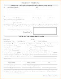 Free Employment Verification Form Great Proof Of Employment