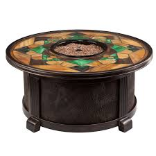 Stained Glass Coffee Table Nuriel Outdoor Gas Fire Pit With Stained Glass Top