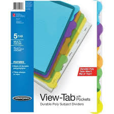 tab index cards 72 units of wilson jones view tab sublect divider with pockets