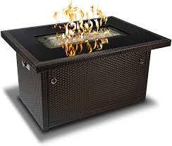 Amazon Com Outland Living 401 Series 44 Inch Outdoor Propane Gas Fire Table Espresso Brown Rectangle Garden Outdoor